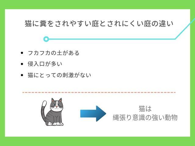 猫に糞をされやすい庭について