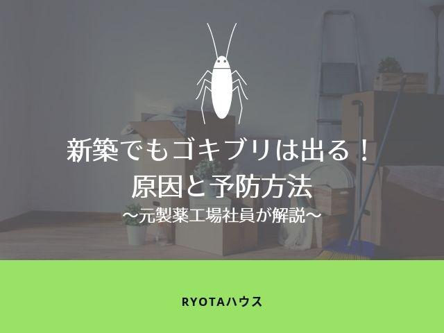 新築でもゴキブリが出る原因