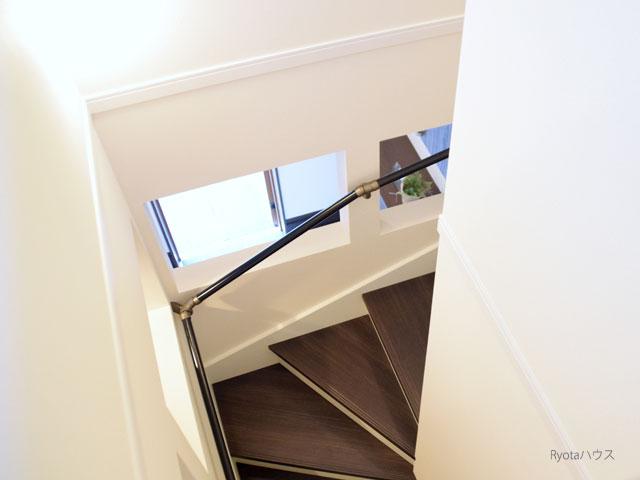 階段のカーブ
