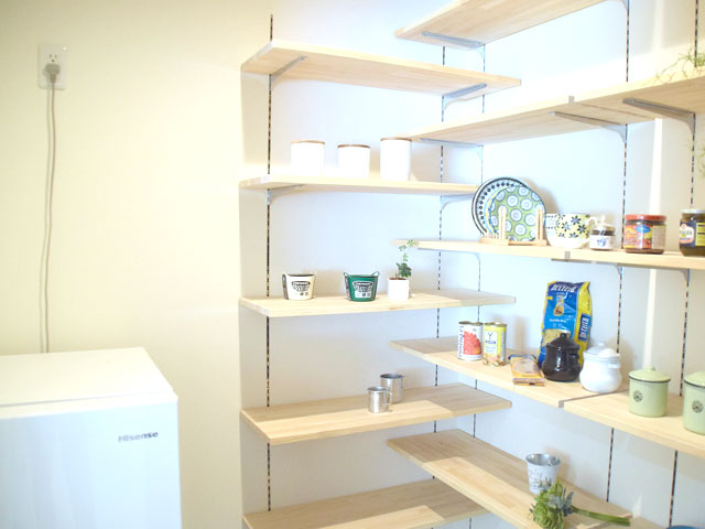 冷蔵庫が設置できるパントリー