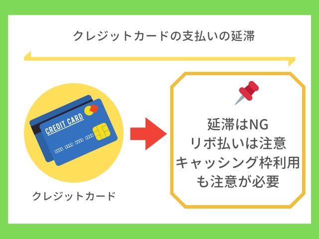 クレジットカードの支払いの延滞はNG