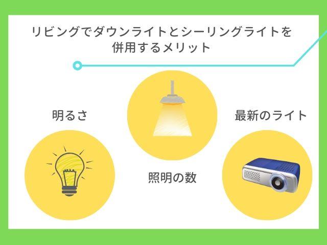 ダウンライトとシーリングライト併用のメリット