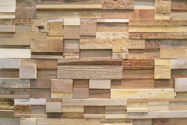 木材を使ったアクセントクロス