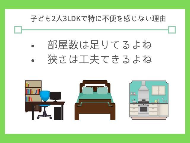3LDKは4人家族が住むに十分な広さ