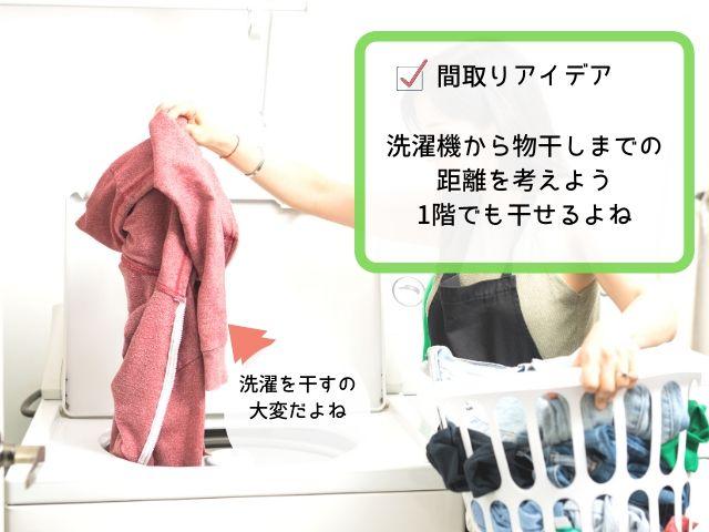 どこで洗濯物を干すか考えよう