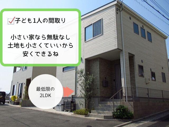 家を小さくすれば価格は抑えられる