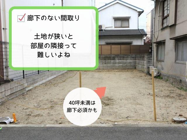 家が小さいと廊下で動線確保が必要だよね