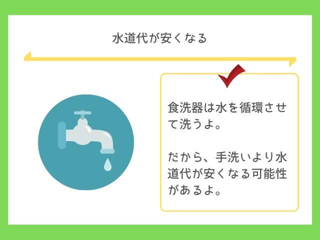 食洗機は使う水の量が少ない